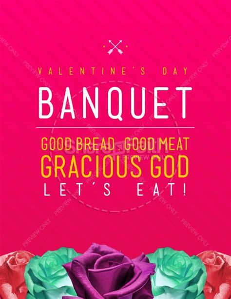 Valentine S Day Banquet Christian Flyer Banquet Flyer Template