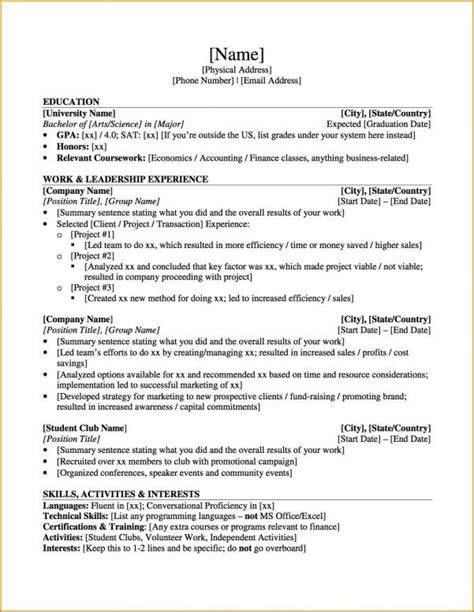 resume for graduate school sample resume samples