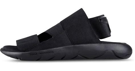 y 3 sandals y 3 qasa sandal in black for save 30 lyst