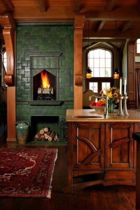 to build in kitchen fireplace designs dynamic cooking andie macdowell s storybook tudor beautiful fireplaces