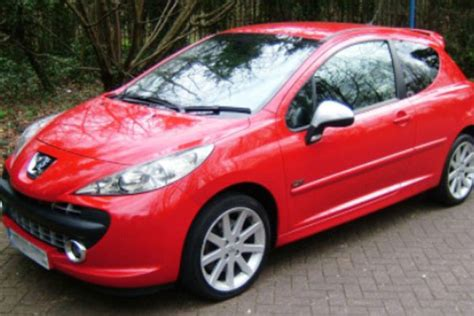 peugeot 207 red polished reflections vehicle valeting and detailing