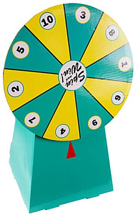 How To Make Spin Wheel Out Of Paper - cardboard prize wheel pop up office