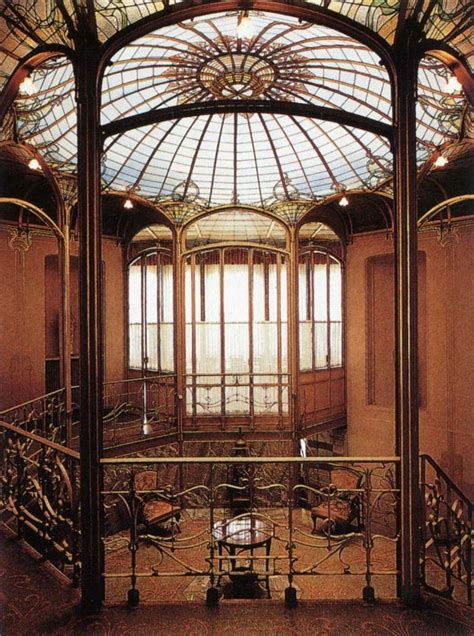 tassel house interior victor horta maison tassel brussels 1892 1893 art deco pinterest tassels