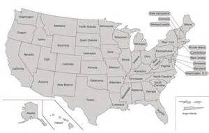 Map Of All States by All 50 States List Glenda