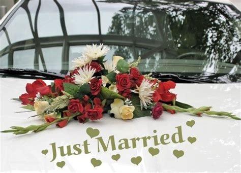 autoschmuck hochzeit just married autoaufkleber hochzeit just married mit namen und datum