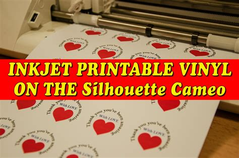 inkjet printable vinyl uk inkjet printable vinyl silhouette cameo youtube
