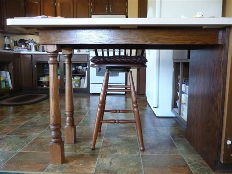 Kitchen Counter Legs Pennisula Island Countertop Supports Anyone Use Legs