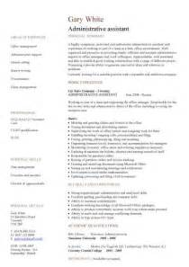 administrative assistant cv sle planning and