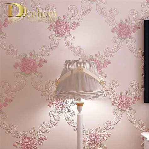 european pastoral damask floral wallpaper  walls