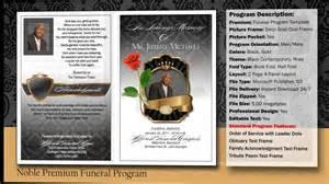 noble funeral program obituary youtube