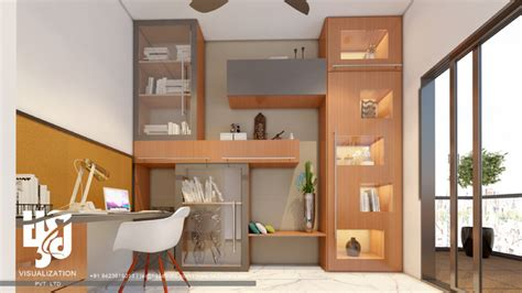 study room interior design 3d rendering view 3d house lavish study room 3d interior design rendering by hs 3d