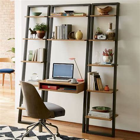 ladder desk and shelves ladder shelf desk west elm