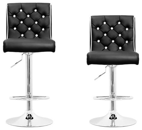 tufted swivel bar stools modern swivel bar stool with crystals and quot tufted quot look