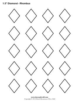 shapes printable diamond shape cutouts diamond templates printable rhombus shapes blank pdfs