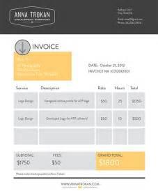 design invoice on behance