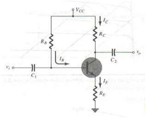 transistor bjt como lificador emisor comun electronica