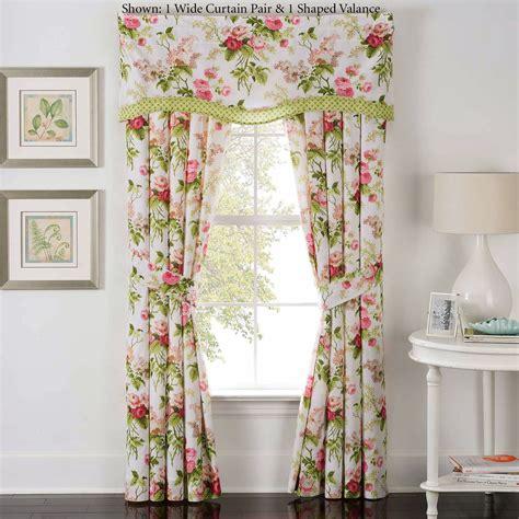 beautiful flowers pink bedroom window dressing curtains emmas garden floral window treatment by waverly