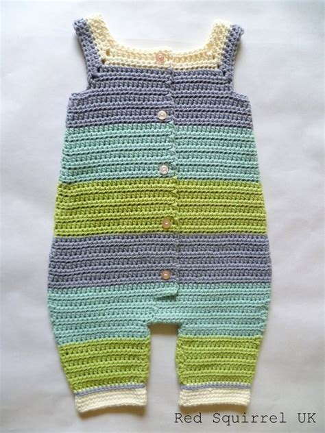 jumpsuit crochet pattern organic cotton green and blue striped crocheted baby
