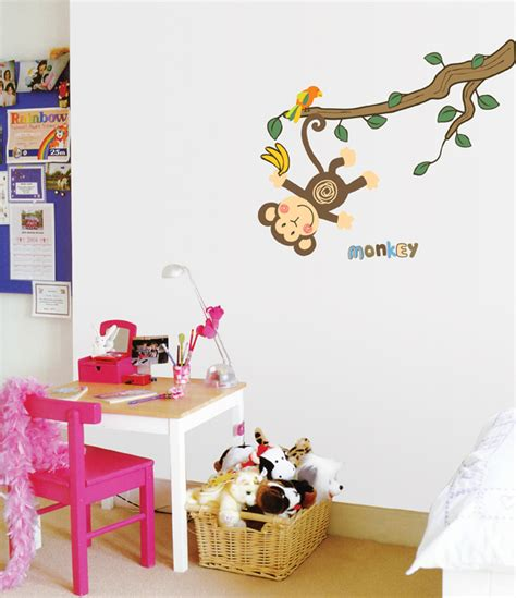 monkey wall stickers rooms on walls wallstickery