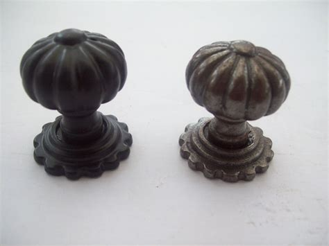 Fancy Kitchen Cabinet Knobs Cast Iron Cupboard Cabinet Drawer Kitchen Door Knobs Fluted Fancy Pumpkin Ebay