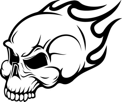 coloring pages fire skulls flaming skull wall art sticker free images at clker com