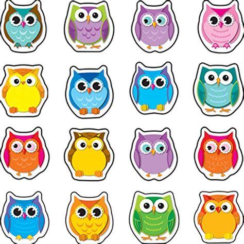 colorful owls carson dellosa colorful owls mini cut outs 120195