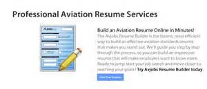 aviation resume building hosting service