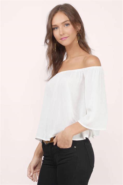 19643 Blouse Blackwhite blouses for white blouse sheer blouse black blouse tobi