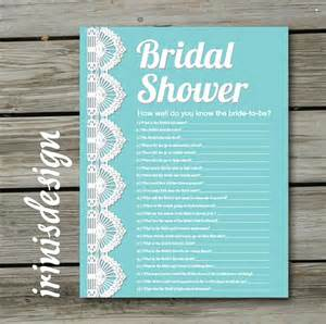 bridal shower questions how well do you the groom 3 items similar to bridal shower quiz how well do you