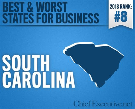 south carolina is the 8th best state for business 2013