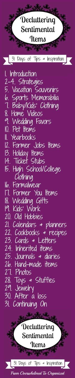 decluttering sentimental items 167 best images about declutter and organize on pinterest