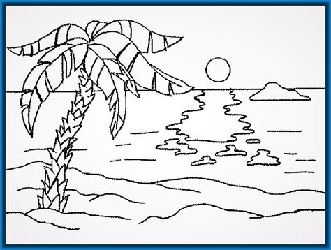 imagenes de paisajes para xolorear dibujos faciles y lindos de paisajes trazos paso a paso