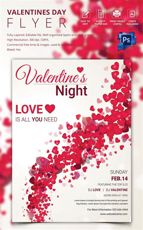 valentines flyer template 53 fabulous psd flyer templates designs
