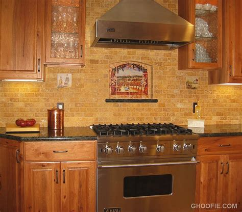 fascinating brick tile kitchen backsplash range