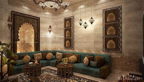interior design moroccan sitting room  saudi arabia
