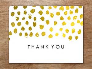 thank you cards template thank you card template gold dots