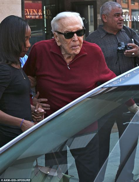 kirk nurmi look like a different person kirk douglas waves at fans after outing in beverly hills