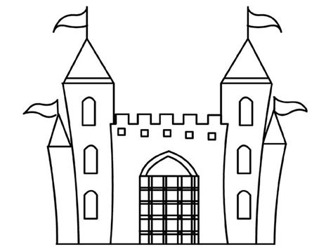 castle drawing template design disney princess castle coloring pages to