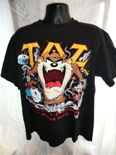 Kaos T Shirt Warner Bros sold 1989 vintage taz warner bros xl t shirt