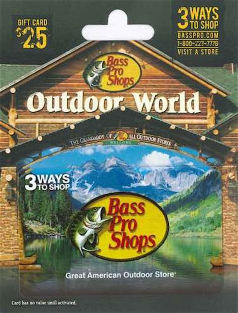 Bass Pro Gift Card - top 5 christmas gift cards for him boldlist