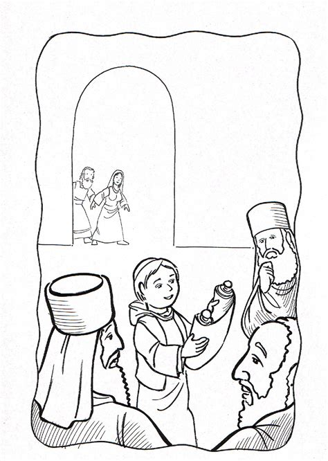 at the temple coloring pages free jesus lost in temple coloring pages