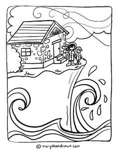 Matthew 7 Coloring Pages by A On The Rock Matthew 7 24 Bible Coloring Page In