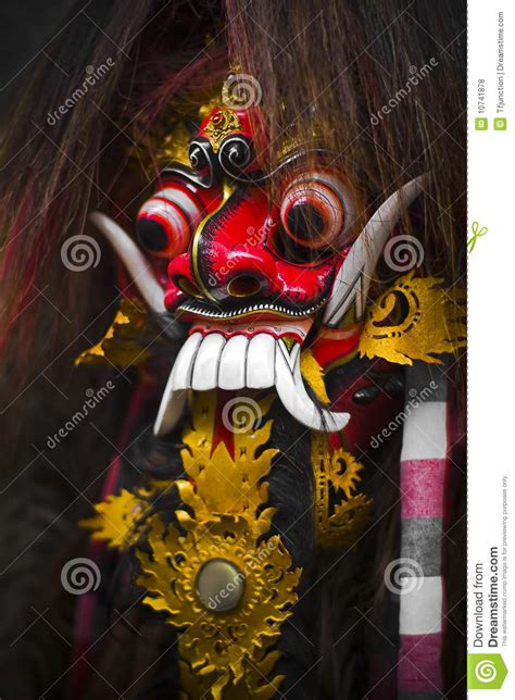 Barong Animated barong bali mask royalty free stock photos image 10741878