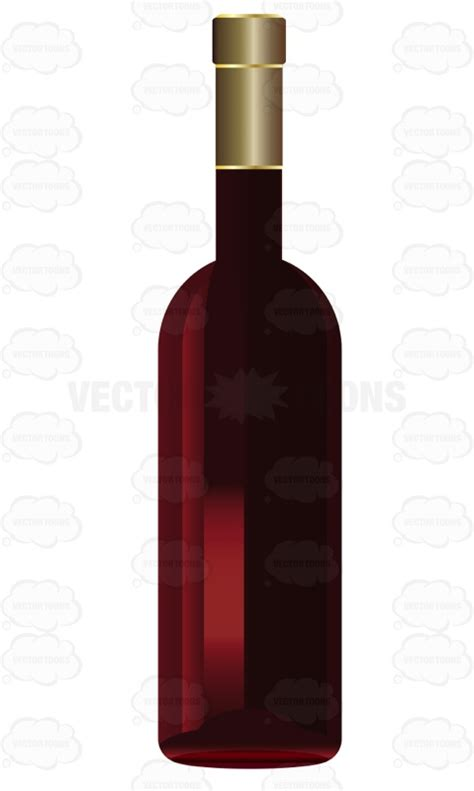 cartoon wine bottle bottle of red wine with no label vector clip art cartoon