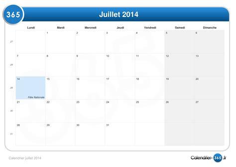 Calendrier Juillet Aout 2014 Calendrier Juillet 2014