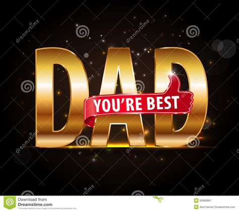 d ad typography best typography icon with thumbs up happy fathers day