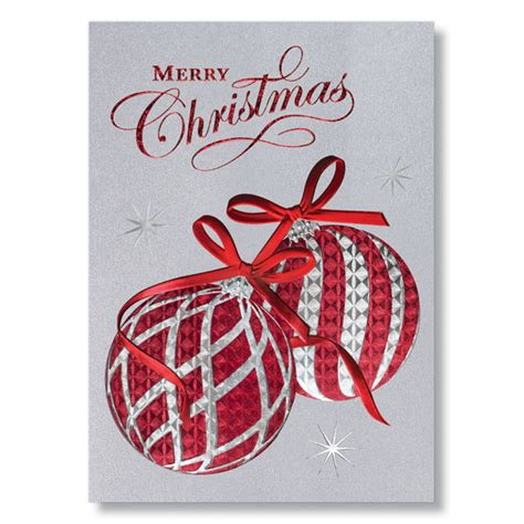 exquisite christmas ornaments holiday card