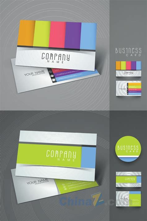 business card eps template colorful business card vector template design free
