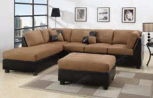 Microfiber Sectional Furniture Sectional Sofa 3pcs Microfiber Sectionals Sofa In 6 Colors