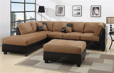 microfiber sectional with ottoman sectional sofa 3pcs microfiber sectionals sofa in 6 colors